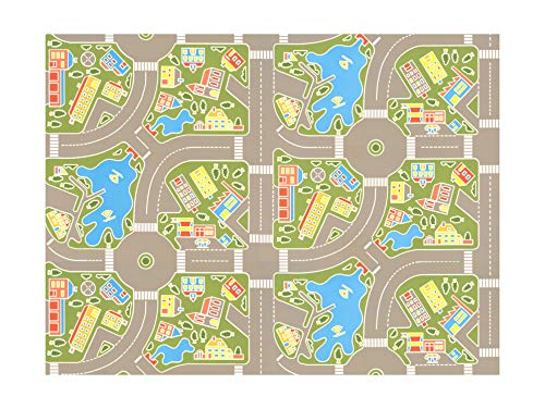 Tapis Vinyle pour les enfants (Les rues de la ville verte)