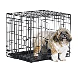 New World 42' Double Door Folding Metal Dog Crate, Includes Leak-Proof Plastic Tray; Dog Crate Measures 42L x 30W x 28H Inches, Fits Large Dog Breeds