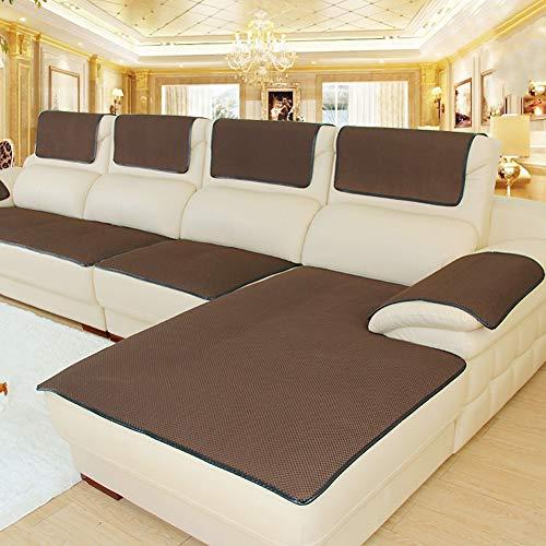 CClz Anti-rutsch Sofabezug Für Haustiere Hund, Atmungsaktive Sectional Sofa Sofa Abdeckung Für Ledersofa Multi-Size Couch-Abdeckungen Möbel Protector-Kaffee 60x150cm(24x59inch)