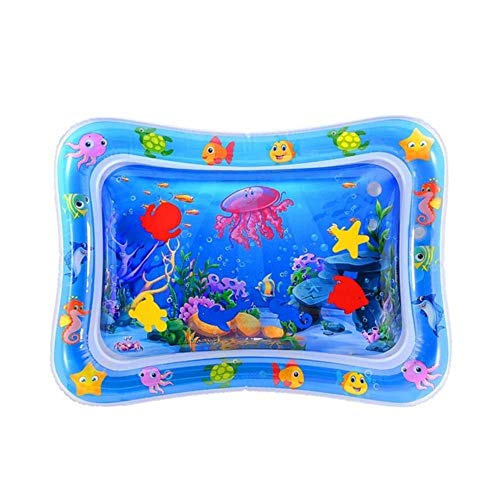WXCL Infant Play Pad Baby Gonflable Slapping Pad-Baby Oreiller d'eau Gonflable Infantile Drôle Pat Pad Jouet Oreiller d'eau Gonflable, Bleu, Chine