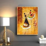 Peinture sur Toile Dali Danse espagnole Vintage Post Peinture à l'huile et Impression sur Toile sur Toile Photos de Danseurs espagnols Illustration Art Affiches 40x60cm(Pas de Cadre)