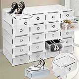 Caja de zapatos, Almacenamiento de zapatos, Caja de almacenamiento de zapatos 8PCS Cajas de zapatos plegables y apilables,mujeres / hombres resistente Cajones de estilo fácil de almacenar zapatos