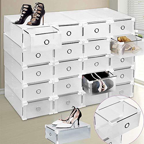 Caja de zapatos, Almacenamiento de zapatos, Caja de almacenamiento de zapatos 8PCS Cajas...