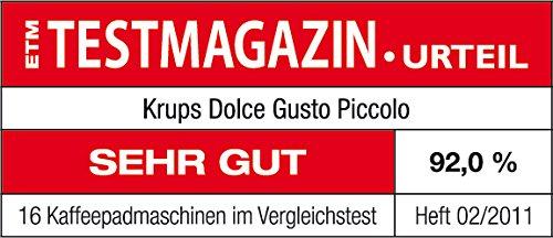 Krups KP100B Cafetera Dolce Gusto cápsulas, monodosis, 15 bares presión,
