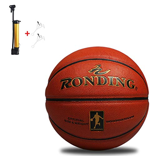 New YONGMEI Standard Basketball No. 7 Size 9.6 inches (24.5 cm) Training Basketball,with Pump (Col...