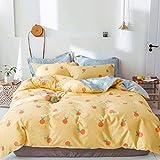 yaonuli Baumwolle vierteiliger Baumwollköper Vier Jahreszeiten Universal Bettbezug klein orange 1,5 m