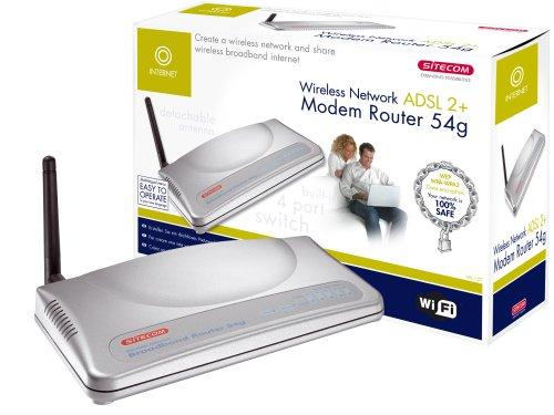 Sitecom Wireless Network ADSL 2+ Modem - Router (ADSL, WPA2, 276g, 1,296 kg, CE, RoHS, UTP)