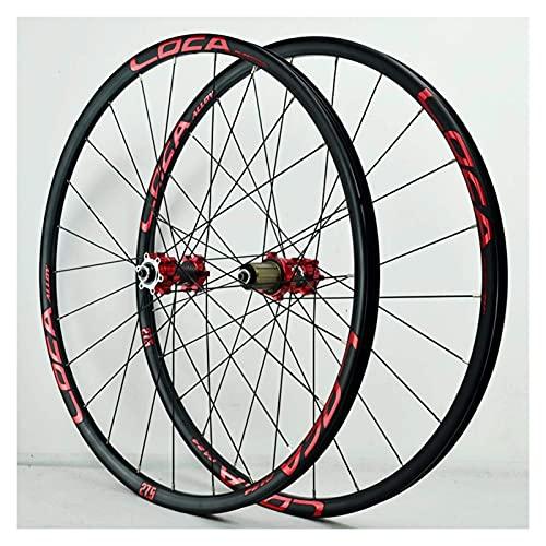 YBNB Ruedas De Ciclismo para 26 27,5 29 Pulgadas Juego De Ruedas De Bicicleta De Montaña Ruedas De Bicicleta De Aleación De Aluminio Freno De Disco Liberación Rápida 24 H 8-12 Velocidad