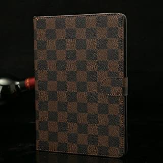 Luxury Grid Design PU Leather Case Cover Stand for Apple iPad Mini 7.9 inch Tablet Brown