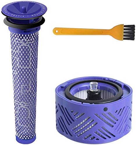 Blue Power HEPA-Nachfilter-Kit V6 & Vorfilter V6 V7 V8, Ersatzfilterkit für Dyson V6 Animal und Absolute Akku-Vakuum,Ersatz-Vorfilter und Post-Filter Cordless Staubsauger # DY-966912-03 (3 Stück)