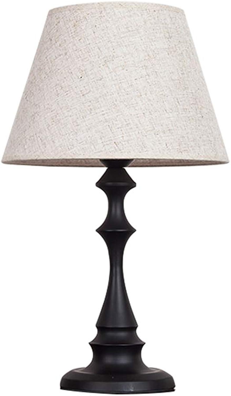 LIU UK Table Lamp Moderne minimalistische Mode Hochzeit Hochzeit Tischlampe, Fernbedienung Dimmen Schutz Auge, warme kreative Energiesparlampe Lampe Nachttischlampe LED (Farbe   SCHWARZ, gre    2)