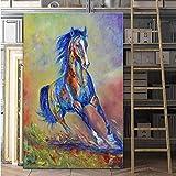 Pintura al óleo Abstracta Caballo Animal Lienzo Pintura Imagen de Arte impresión para Sala de Estar Dormitorio decoración del hogar Moderna pintura40x60cm SIN Marco 1
