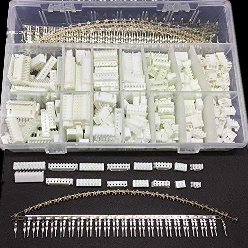 ARCELI 1220PCS 2,54 MM JST-XHP 2/3/4/5/6/7/8/9 Pin-Gehäuse und Pin-Sockelgehäusekit, Dupont-Buchsen-Buchsenanschlüsse Steckeradapter-Steckersatz mit klarer Kunststoffbox