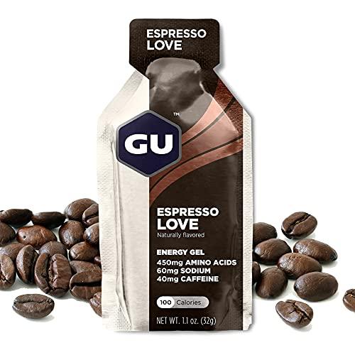 GU Energy Original Sports Nutrition Energy Gel, 24-Count, Espresso Love