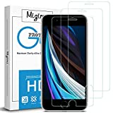 Migimi Protector Pantalla iPhone SE 2020/7/8, [3-Pack] Vidrio Templado 9H Dureza Anti-Huellas Dactilares, Alta Sensibilidad, Cristal Screen Protector para iPhone SE 2020/7/8