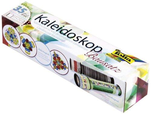 folia 977 - Kaleidoskop Bastel Set, 35 teilig, Lehrreiche Bastelpackung für Kinder und Erwachsene