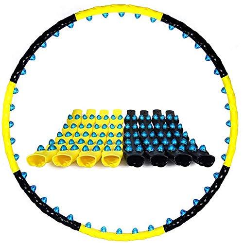 [Sfere per massaggio con magnete balls Le sfere per massaggio a doppia fila possono ottenere la funzione di massaggio a punti, che può farti sentire molto a tuo agio, è meglio abbinare il cuscinetto in vita [Smontaggio libero] L'hula hoop ha un total...