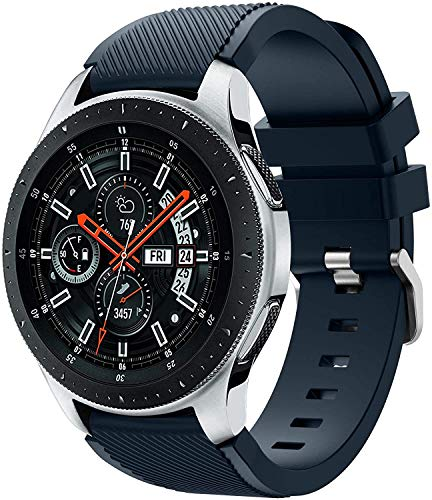 Chainfo 22mm Soft Silikon Classic Ersatz Uhrenarmbänder (22mm, Rock Blue)