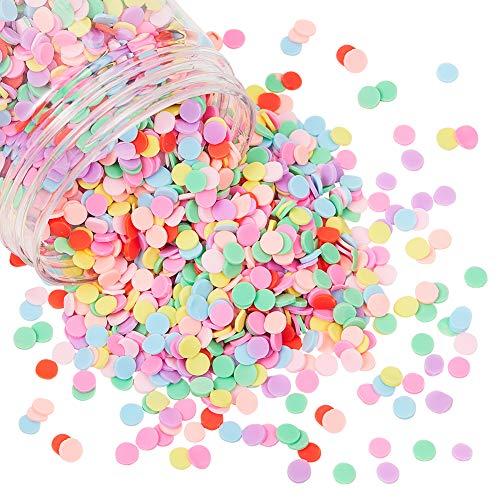 PandaHall Elite ongeveer 200g Slime Charmes Hars Flatbacks Knoppen Polymeer Klei Cabochons Strooien Decoratie voor Slijm Filler Nep Candy Chocolade Cake Dessert Modder Deeltjes Scrapbook Telefoon Case