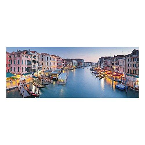 Bilderwelten Top Städte Glasbilder Wandbild 50 x 125 cm Abendstimmung Canal Grande Venedig