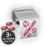 Klopapier Münchner Abpfiff (3 Rollen XL-Sparpack)  Dieses Toilettenpapier Macht das Klo von S04-, Dortmund- & Fußball-Fans zur Bayern-Kultschüssel   Geschenkidee für Männer & Freunde