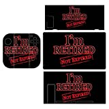 I'm Retired Not Expired Game Sticker for Beautifully Patterned Game Sticker Suitable for Switch Series for Switch