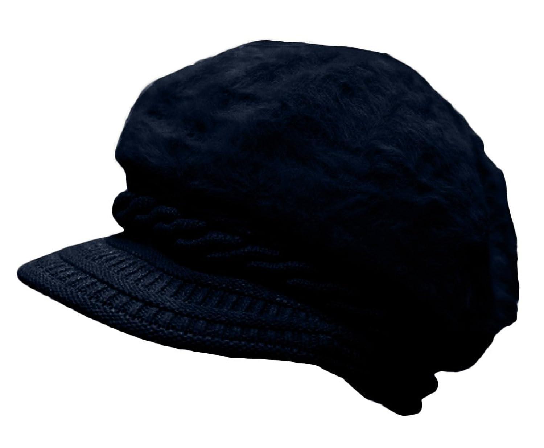 Plus Nao(プラスナオ) ふわふわファー ニット帽 ニットキャップ キャスケット レディース 帽子 ぼうし 秋冬 シンプル 無地 祖母 おばあちゃ