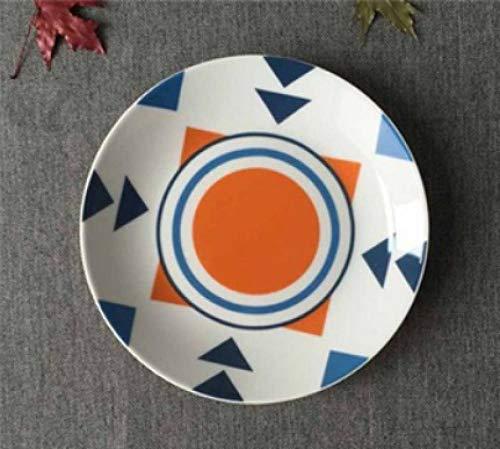 LMMJYF 8 Zoll exotische handbemalte marokkanische Italien Bohemian Style Teller Bunte Salatteller Speisen runde Dekoration Teller Geschenke-10