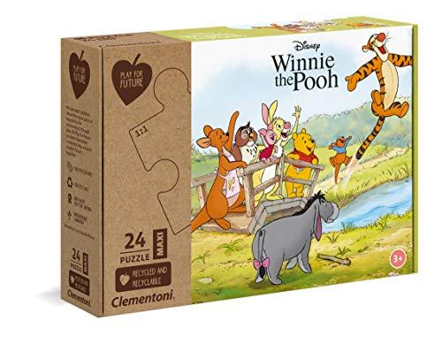 Clementoni- Play for Future-Disney Winnie The Pooh Puzzle, 24 Pezzi, Multicolore, 20259