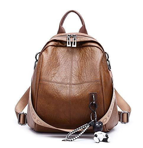 AINUOEY Damen Rucksackhandtaschen Elegant Anti Diebstahl Frau Damenhandtaschen Stadtrucksack Henkeltaschen Braun