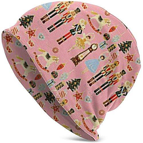 Notenkraker Kerstmis-Roze Kerstmis Mens Slouchy Lange Oversized Beanie Knit Cap voor Zomer Winter