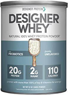 Designer Whey Protein Powder, Purely Unflavored, 12 Oz, Non Gmo, Made in the USA