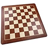 Templeton Rounded Corners Chess Board with Inlaid Padauk Wood, Extra Large 19 x 19 Inch, Chessboard Only
