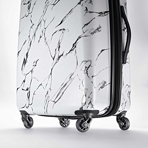 American Tourister Moonlight Hardside Expandable Luggage with Spinner Wheels, Marble, Carry-On 21-Inch