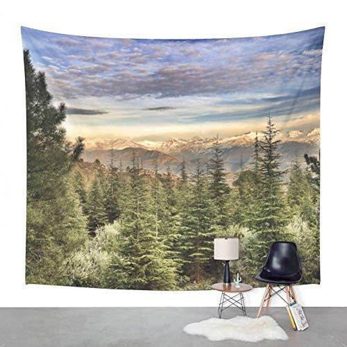 ZWBBO tapijt Water Lelie op doek Fine Art Vintage Wandtapijt voor bruiloft partij Strandhanddoek Yoga Picknick handdoek (130X150cm)