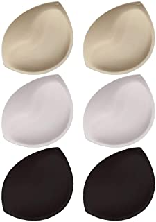 6Pair Bra Inserts Pads Breast Enhancer Insert Bra Padding - Push Up Pads for Women