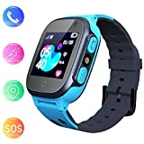 Jslai Smartwatch Kids Étanche avec Tracker LBS/GPS, Android Watch Compatible iOS...
