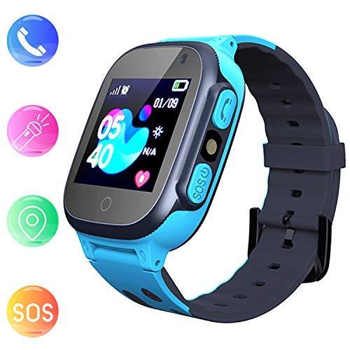 Jaybest Kinder Smartwatch LBS Tracker,Touch LCD Kid Smart Watch mit Taschenlampen Anti-Lost Voice Chat für 3-12 Jahre alt Jungen Mädchen Geburtstagsgeschenke(blue)