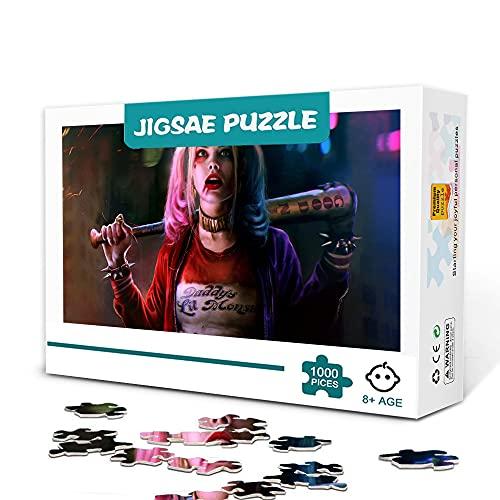 1000 rompecabezas de alta gama, rompecabezas de madera de Harley Quinn, tus propios regalos artísticos de bricolaje, desafiantes juegos de tangram.
