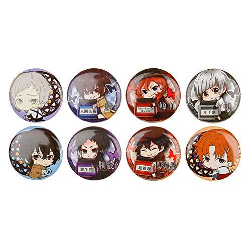 six-day Anime Naruto, One Piece, Tokyo Ghoul, Badge Pins für Kleidung Rucksack, Geschenkidee Gr. 32 mm, H06