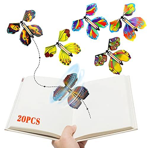 LOVEXIU Mariposas voladoras Coloridas ,20 Unidades de Mariposas voladoras mágicas para niños,...