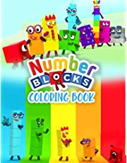 Numberblocks coloring book: A Numberblocks book with random and unordered numbers great for kids from 2 to 6