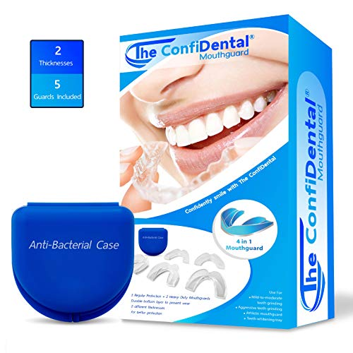 The ConfiDental - Pack of 5 Moldable Mouth Guard for Teeth...