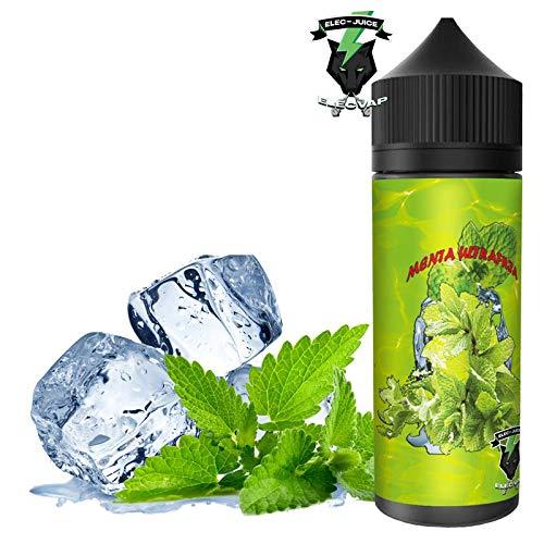 E-Liquid MENTHOL ULTRA FRIA | 120ML TPD | ElecVap | Sin Nicotina: 0MG | E-Liquido vapeo para Cigarrillos Electronicos - E Liquidos para Vaper 70/30