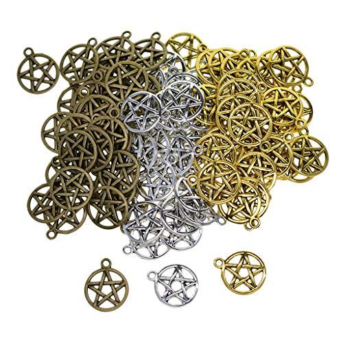 joyMerit 50x Tono Antiguo Estrellas De Cinco Puntas Colgantes con Dijes Celtas Colgantes para Collar