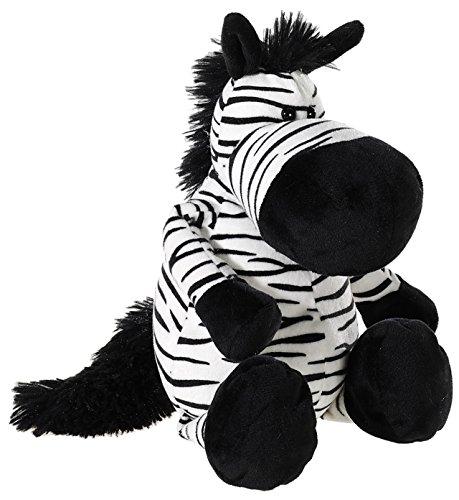 Heunec 453173 Plüschtier, Zebra, weiß/schwarz