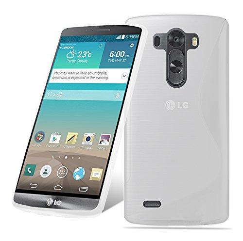Cadorabo Hülle für LG G3 Stylus - Hülle in HALB TRANSPARENT – Handyhülle aus flexiblem TPU Silikon im S-Line Design - Silikonhülle Schutzhülle Soft Back Cover Case Bumper