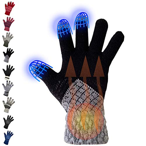 Winter Gloves Men Women Touch Screen Glove Cold Weather Warm Gloves Workout Gloves Running Cycling Training WINTER GLOVES Stocking Stuffers For Men Women Under 10 Mens Stocking Stuffer