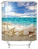 DAFENP Duschvorhang Waschbar Wasserdichter Anti-Schimmel,Duschvorhang inkl.8 Kunststoffhakens,Duschvorhang Polyester (180cm x 180cm,Eine Vielzahl von Mustern) (style16-1)