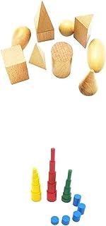 P Prettyia 積み木 想像力を育む 知育のつみき 出産祝い 贈り物 知育玩具教具 色つき円柱 幾何学立体